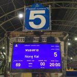 7)バンコクから寝台列車でノンカーイへ