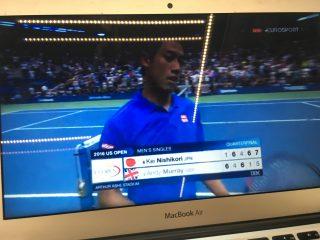 【テニスの全米オープン2016準々決勝】錦織 vs マレー戦の動画